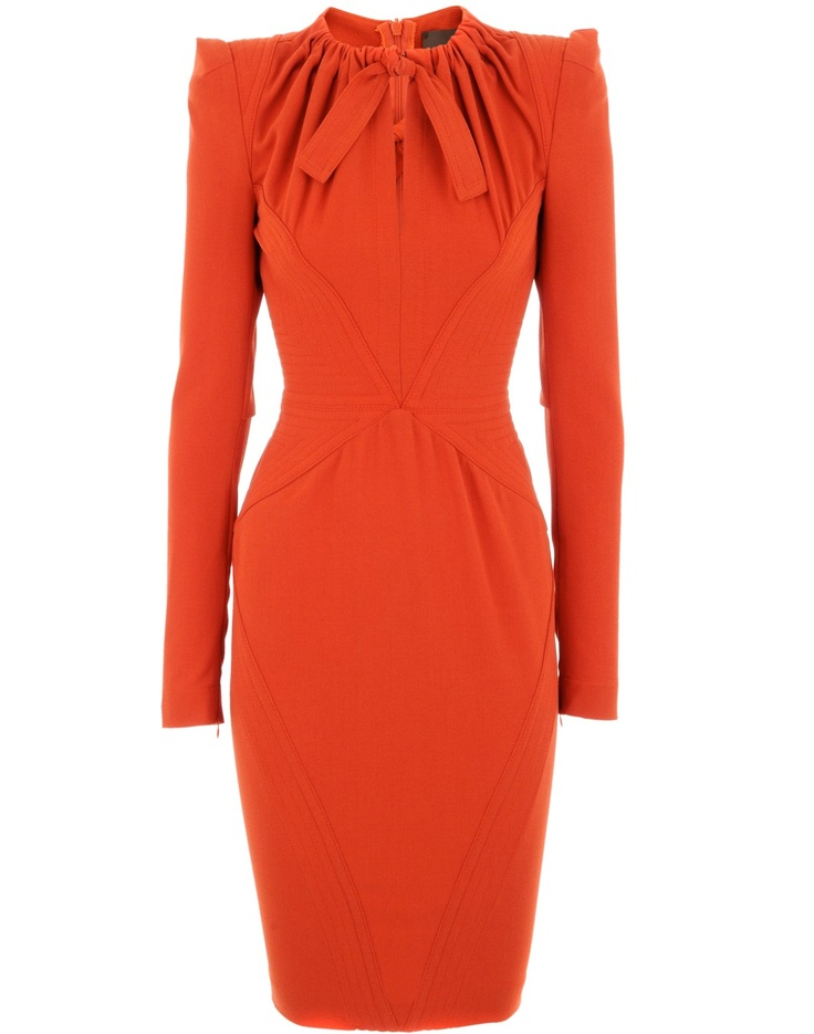 Orange Copenhagen Crepe Dress