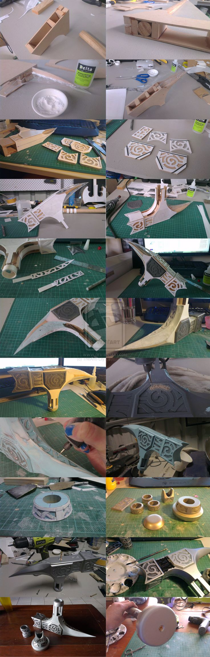 Skyrim Steel Hammer WIP by TheAnti-Lily on deviantART weapon cosplay costume LARP resource tool how to tutorial instructions   Create your own roleplaying game material w/ RPG Bard: www.rpgbard.com   Writing inspiration for Dungeons and Dragons DND D&D Pathfinder PFRPG Warhammer 40k Star Wars Shadowrun Call of Cthulhu Lord of the Rings LoTR + d20 fantasy science fiction scifi horror design   Not Trusty Sword art: click artwork for source