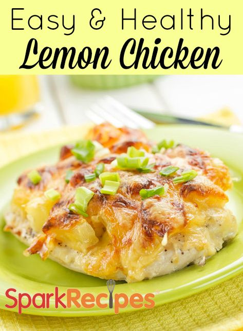 """Easy Lemon Chicken Recipe! One pinner said: """"Tastes just like Chicken Limone from our favorite Italian restaurant. Hubby, our son and I all love it. We sprinkle capers on top. Very easy to make."""" 