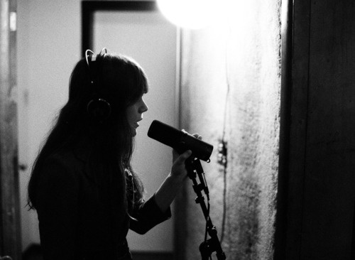 Jenny Lewis, Acid Tongue recording sessions.  Photo by Autumn de Wilde.