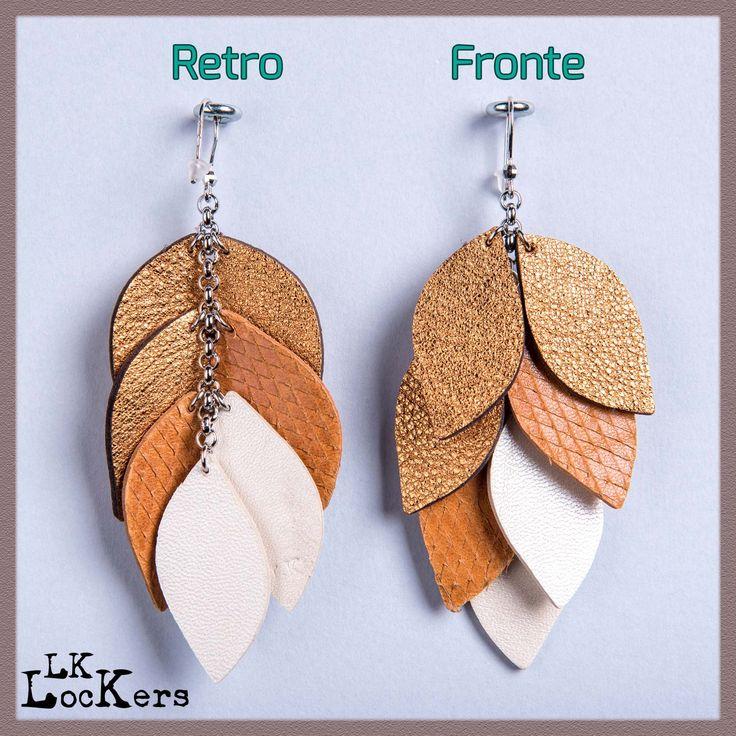 Orecchini in Pelle : LAU - WHITE1 02 leather earrings