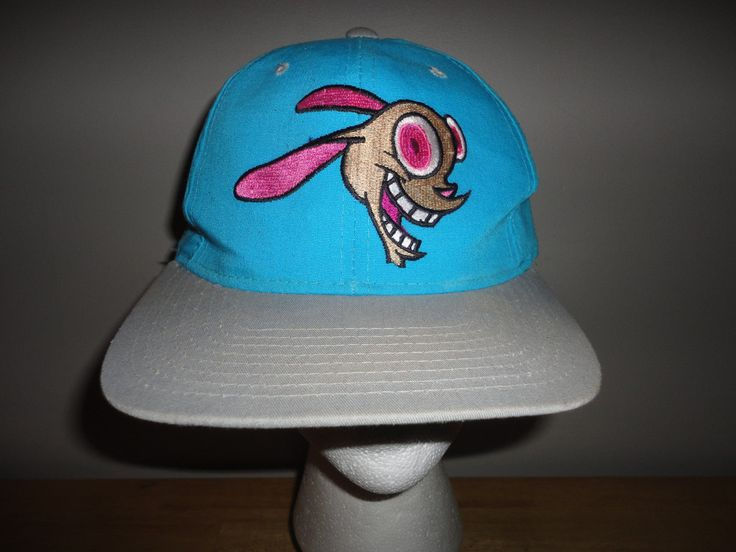 http://www.ebay.com/itm/Vintage-1993-NICKELODEON-Ren-Stimpy-REN-HOEK-Snapback-Hat-from-AMERICAN-NEEDLE-/232505038535?hash=item36226156c7:g:wQUAAOSwGIRXX07C