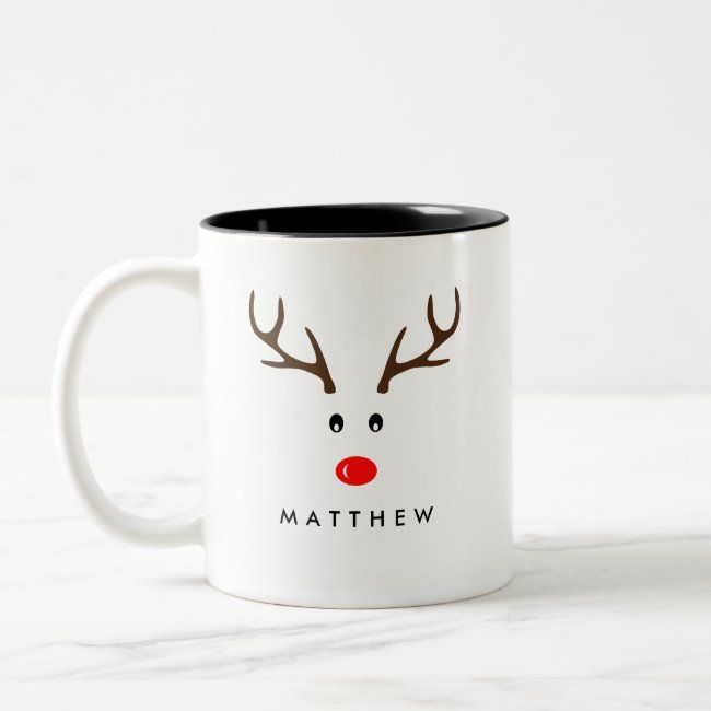 Xmas Holiday Two Tone Coffee Mug