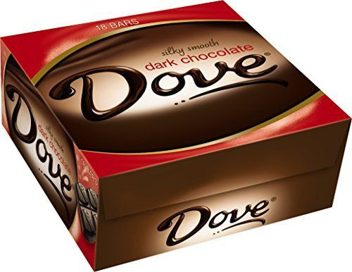 Dove Dark Chocolate Candy Bar, Singles (18 Count) - http://mygourmetgifts.com/dove-dark-chocolate-candy-bar-singles-18-count/