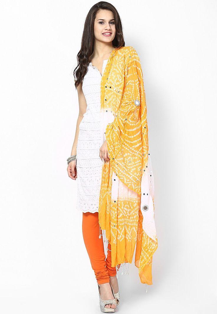 Bandhej & Handwork Cotton Dupatta $26.60 (24% OFF) https://www.dollyfashions.com/ruhaan-s-bandhej-handwork-cotton-dupatta-3000420004.html