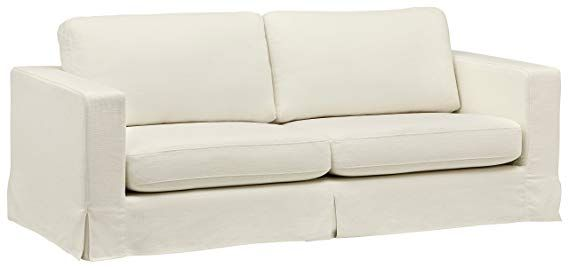 Amazon Com Stone Beam Bryant Modern Slipcover Sofa 85 W Sofa