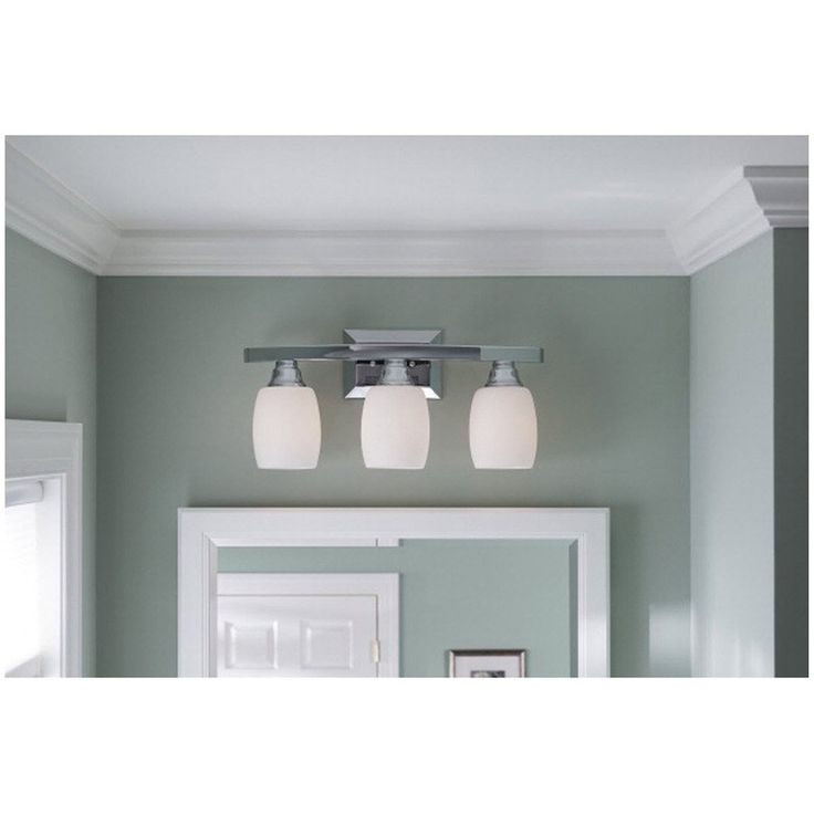 Allen + Roth 3-Light Chrome Bathroom Vanity Light