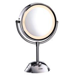Stylen leicht gemacht - mit dem Kosmetikspiegel von Babyliss. Er beleuchtet perfekt das Gesicht und eignet sich dank seiner 5-fach Vergrößerung perfekt für das Augen-Make up. Zusätzlich überzeugt er mit einem schwenkbaren Rahmen zur Anpassung des Blickwinkels, einer rutschfesten Basis und einer Ringbeleuchtung mit 8 LED Lichtern, die ein warmes Licht ausstrahlen. Wahlweise kann er mit Batterien oder mit Strom betrieben werden. Für perfekte Schönheit - aus jedem Blickwinkel!