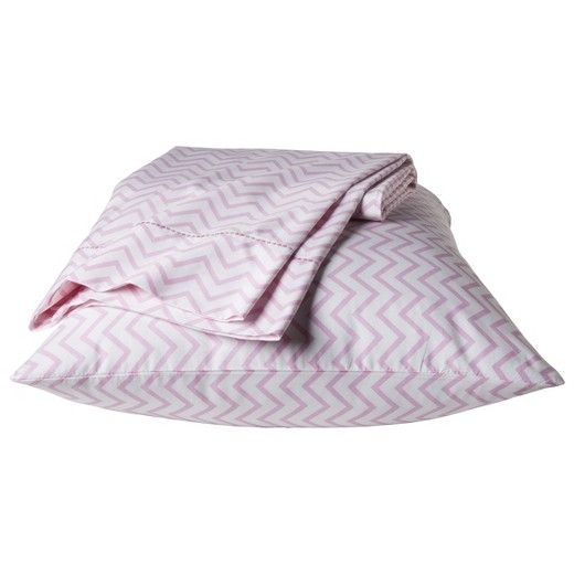 Chevron Sheet Set - Pink - Pillowfort™ : Target