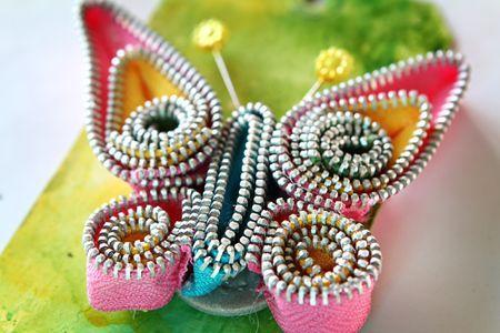 Zipper butterfly Tutorial: Trim Butterfly, Zipper Butterfly, Idea, Craft, Butterflies, Tutorial, Maya Road, Zippers