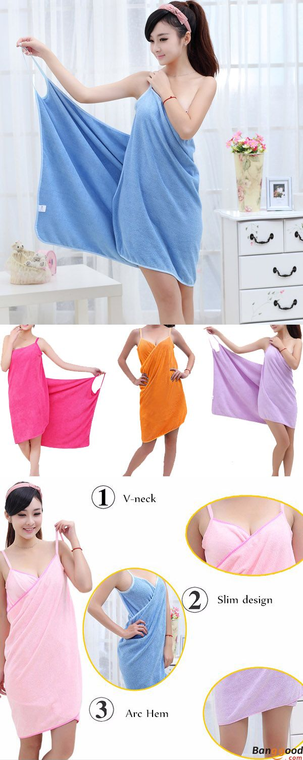US$11.99+ Free Shipping. Wearable Bath Towel. 8 colors available.  Fashion design, strong water absorbing ability, soft and comfortable, perfect beach cloth. Buy at banggood now:)