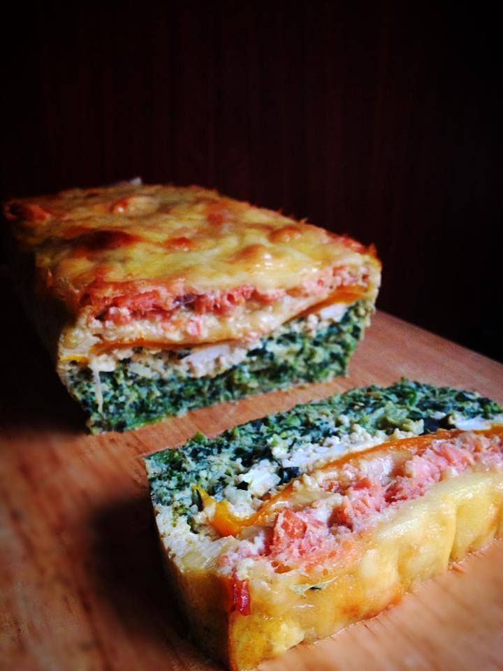 Smoked salmon, spinach + goat's cheese frittata - Fitness Foodie