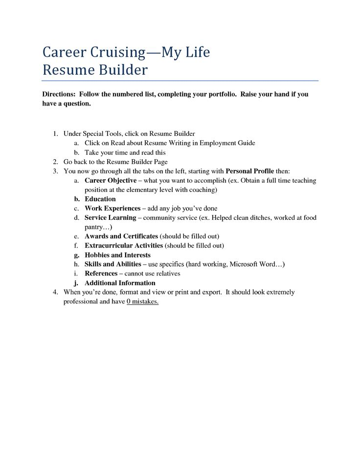 Career Builder Resume Samples Templates And Builders Qbdrj Home   Career  Cruising Resume Builder  Career Builders Resume