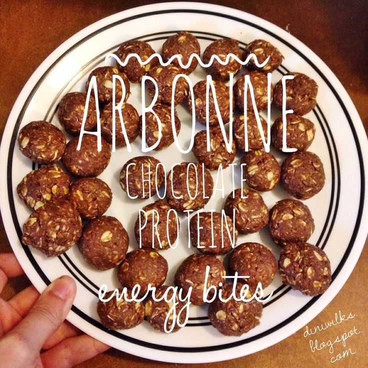 The Diniwilks: Arbonne Chocolate Protein Energy Bites