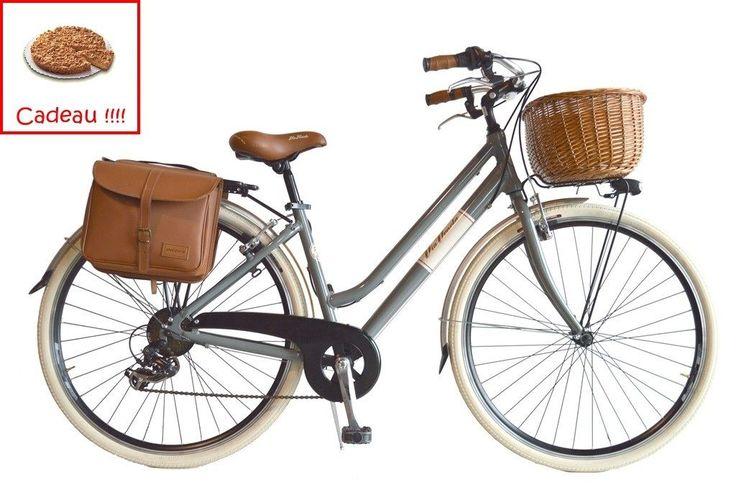 FR VV Beach Cruiser Retrò Vélo de Ville Vèlo américain femme Vintage alum gris in Sports, vacances, Cyclisme, vélos, Vélos | eBay