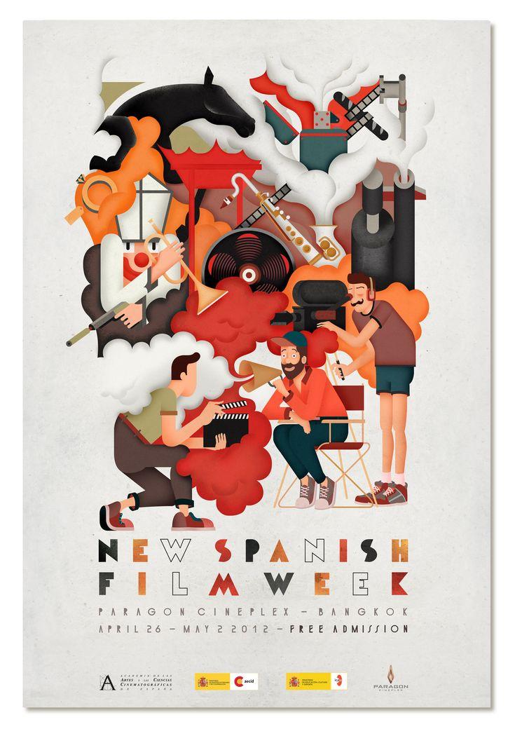 new spanish film week poster - Buscar con Google