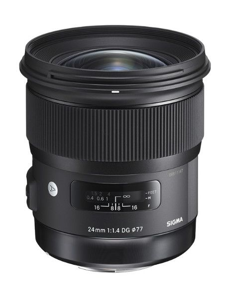 "The Sigma 24mm F1.4 DG HSM | Art lens is the latest ""F1.4"" to join the Sigma Art line series which is built with the highest optical performance in its class and perfect for a variety of subjects from cityscapes to a star-filled night sky.  It is a new horizon for a large F1.4 maximum aperture wide-angle lens with rendering performance that is at a whole new level. Announced 10th February 2015."