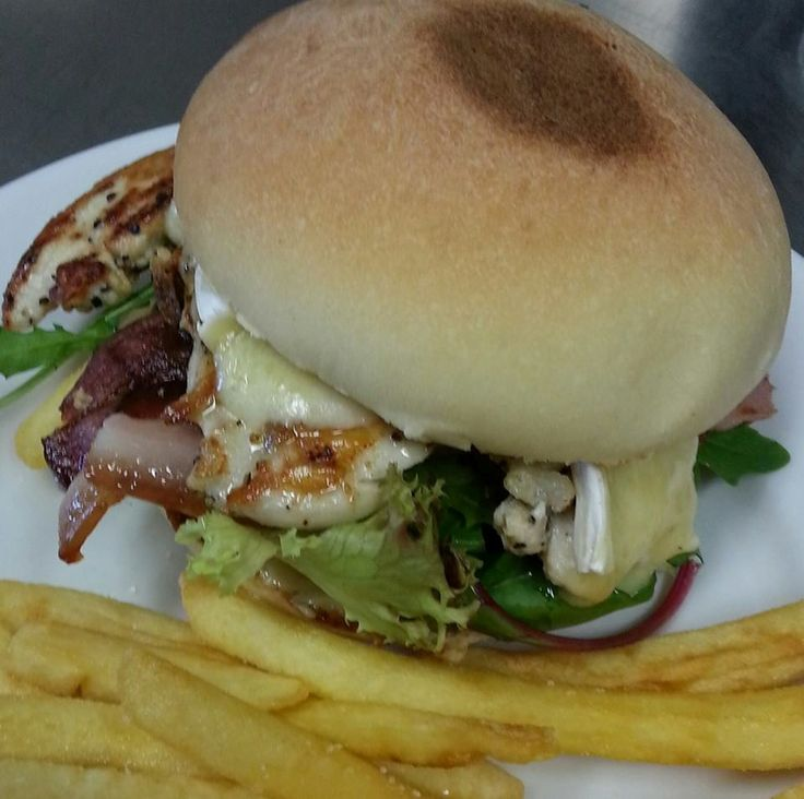 chicken breast fillet, bacon, brie and cranberry