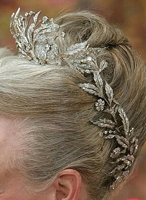 Crowns and Tiaras/karen cox... Floral Aigrette Tiara. Current owner Queen Margrethe II of Denmark