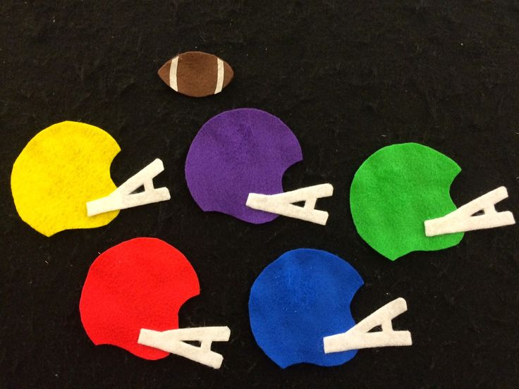 "Flannel Friday: Football!  ""Football, football, where do you hide? Under the (color) helmet? Let's peek inside!"""