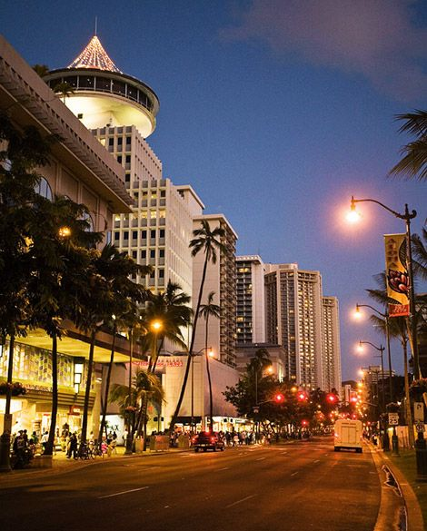 Kalakaua Avenue, Waikiki. I managed an optional tour company in the Waikiki Shopping Plaza next to the duty free shop building. Remember when there was a Woolworth's at this location? Memories...