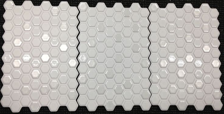 Mini Hex Mosaic tile splash-back - for a nice clean bright look that also catches the light and adds texture