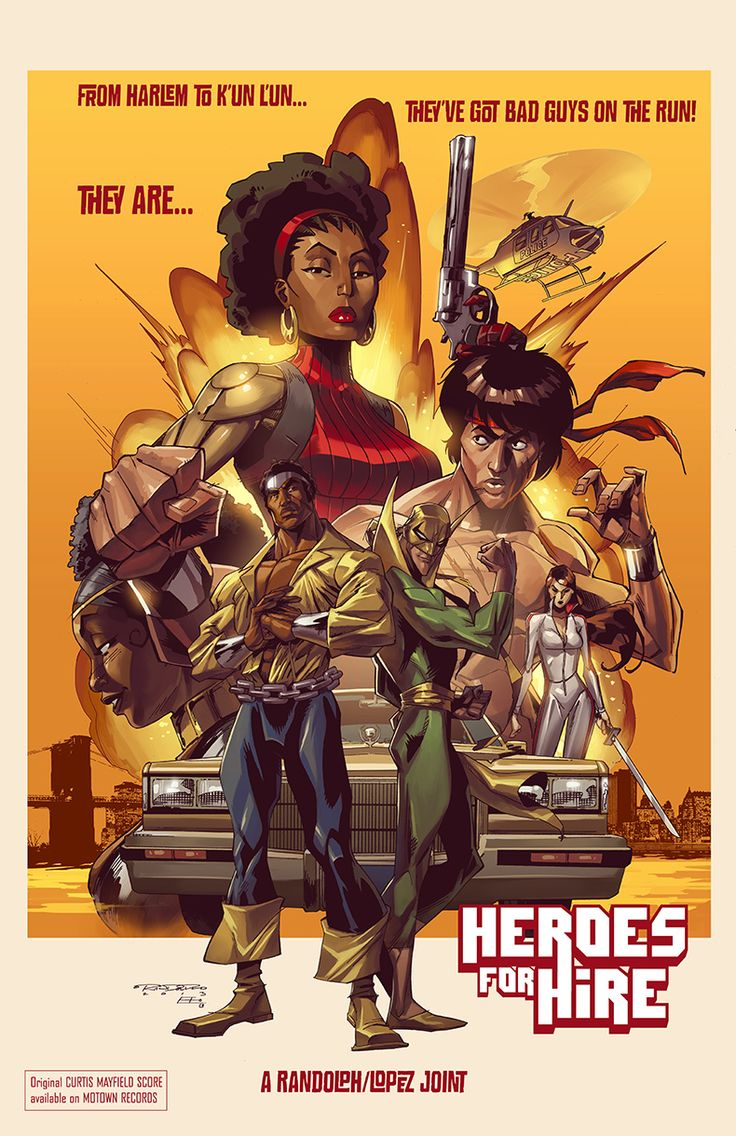 Heroes for Hire by *KharyRandolph on deviantART. This is too awesome! I really hope Marvel makes this movie soon...