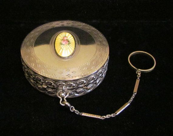 Vintage 1900s Dance Compact Ring Compact by classiccollector