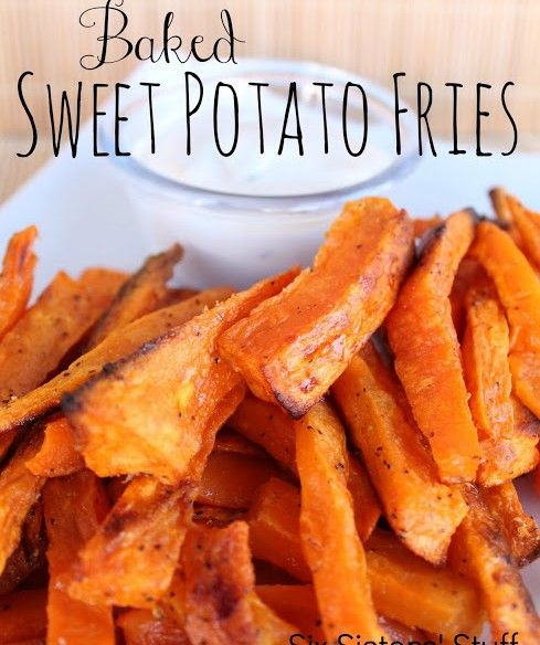 Baked Sweet Potato Fries Recipe....Side Dish 1 cup for woman, 1 1/4 cup for men would be considered a fast carb. Learn more at www.Mydietfreelife.com