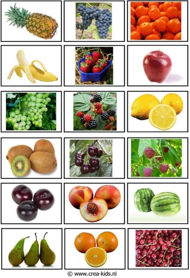 Pouvez-vous nommer tous les fruits?