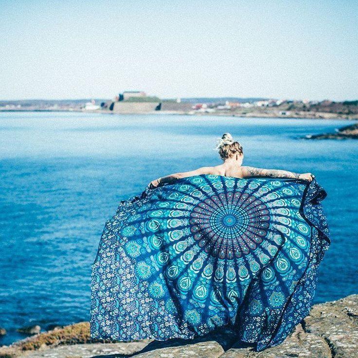 2016 Large Beach Towel Jacquard Mandala Towel Yoga Mat Blanket Wall Tapestry Serviette De Plage 210*148cm