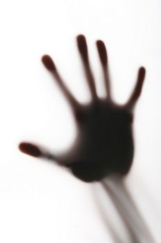 #blurry #scary #horror #hand #silhouette #white