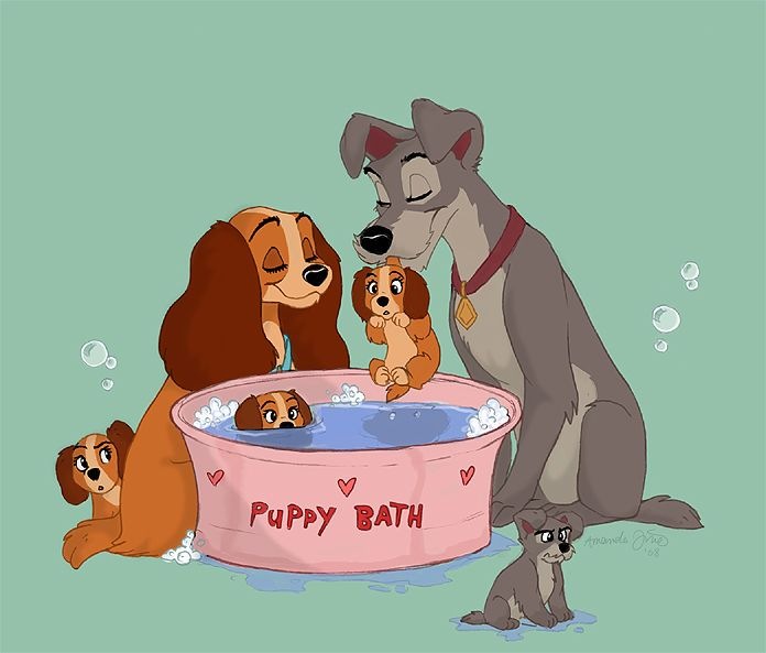 Image result for lady and the tramp art