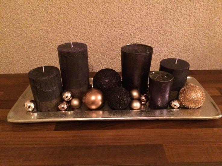 Weihnachtsdekoration silber schwarz