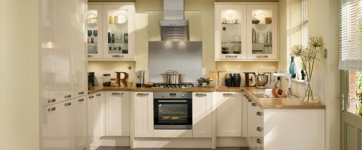 Burford Gloss Cream - both classic and contemporary.  Howdens