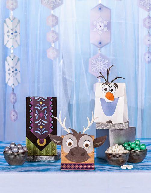 Frozen: Bolsas de Recuerdos para Fiestas para Imprimir Gratis.   Ideas y material gratis para fiestas y celebraciones Oh My Fiesta!