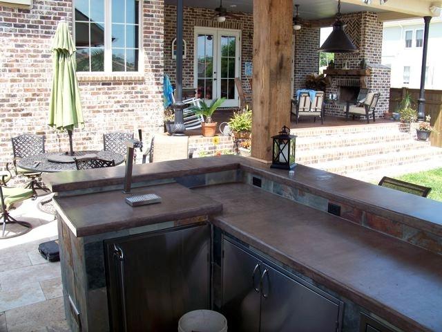 16 best outdoor kitchens by crane images on pinterest - Cuisine exterieure beton ...