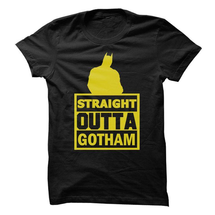 (Tshirt Like) Straight Outta Gotham Movie Hybrid Shirt [TShirt 2016] Hoodies, Funny Tee Shirts
