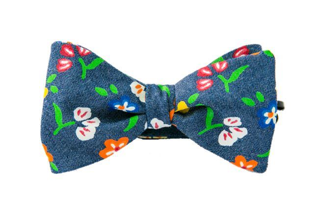 Daisies and Denim Youth Bow Tie