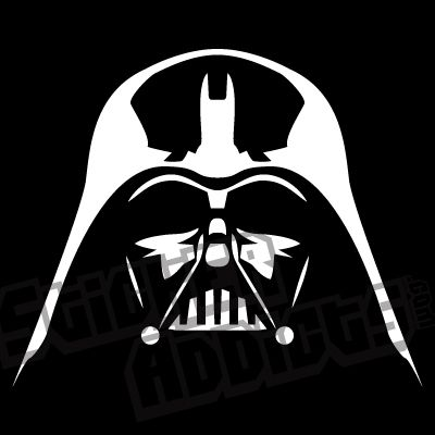 Darth vader mask printable vader helmet outline sticker for Darth vader black and white