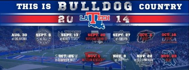 Louisiana Tech football schedule 2014