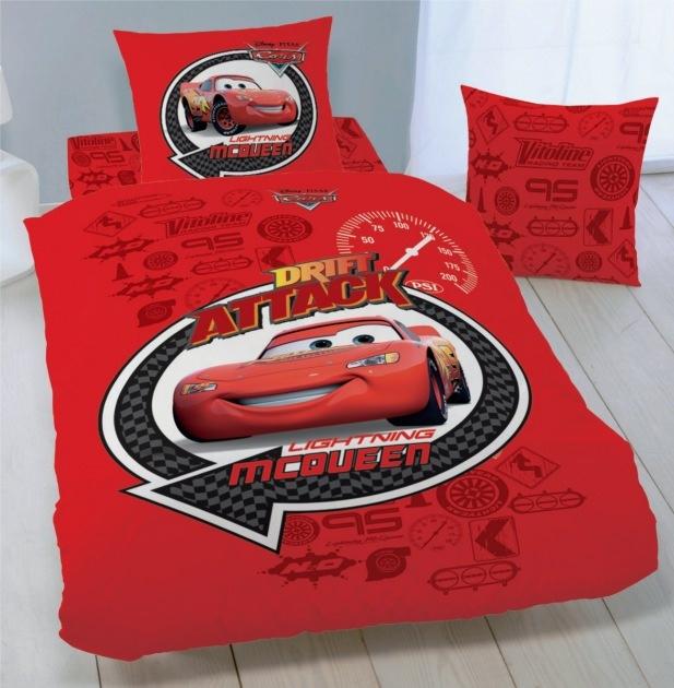 Parure de lit Cars - HOUSSE DE COUETTE 100% Coton - Drift Attack - Disney