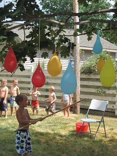 """Unser Kindergeburtstag hat das Motto """"Sommer"""". Um die Kids zu unterhalten, könnte dieses Spiel super passen!  Vielen Dank dafür  Dein balloonas.com  #kindergeburtstag #motto #mottoparty #sommer #spiele #games #outdoor # fun #erfrischend"""