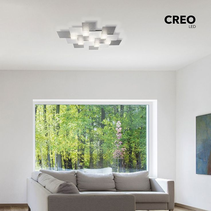 Creo LED-Deckenleuchte 4-flammig / 55 x 38 cm Alu-matt 47324