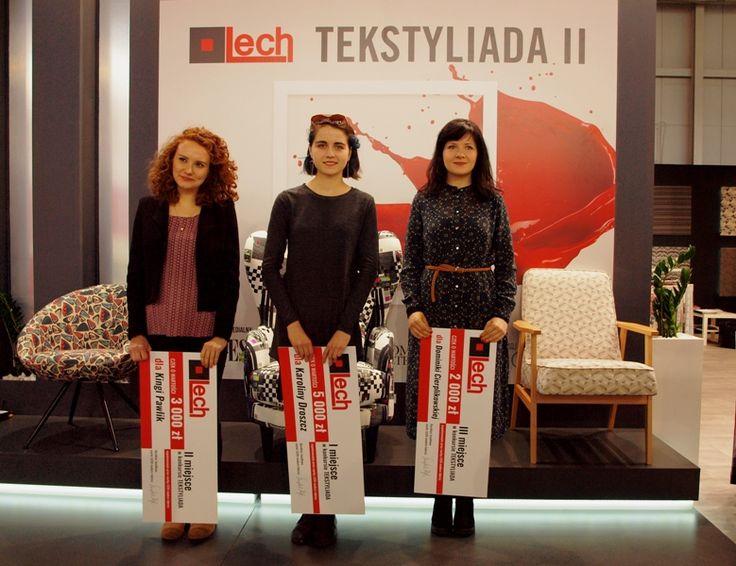 TEKSTYLIDA II – mamy zwyciężczynie! 1 miejsce: Karolina Droszcz  2 miejsce: Kinga Pawlik  3 miejsce: Dominika Cierplikowska #Tekstyliada #wzór #tkanina