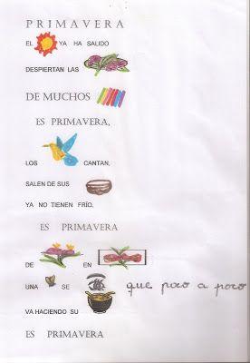 1º Primaria 2012/13 Escuelas Bosque: POESIA DE LA PRIMAVERA