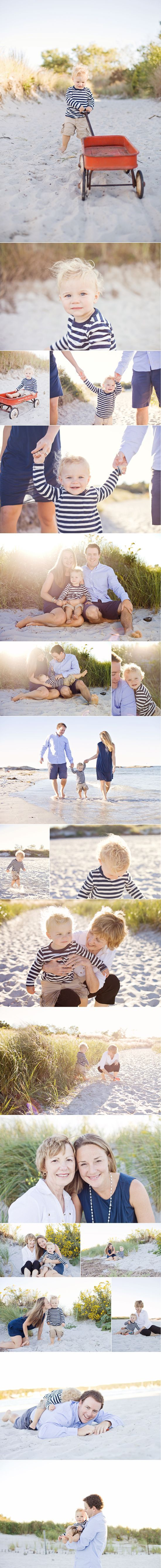 Beach Session. Coordinated/not matching. A sweet boy and his family   Massachusetts Family
