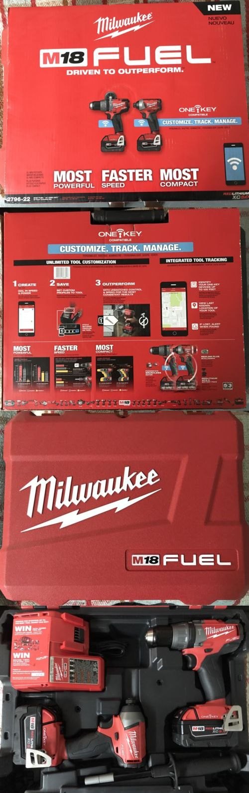 Combination Sets 177000: Milwaukee M18 Fuel 2796-22 2-Tool Impact Driver Hammer Drill Combo Kit One Key -> BUY IT NOW ONLY: $289.99 on eBay!