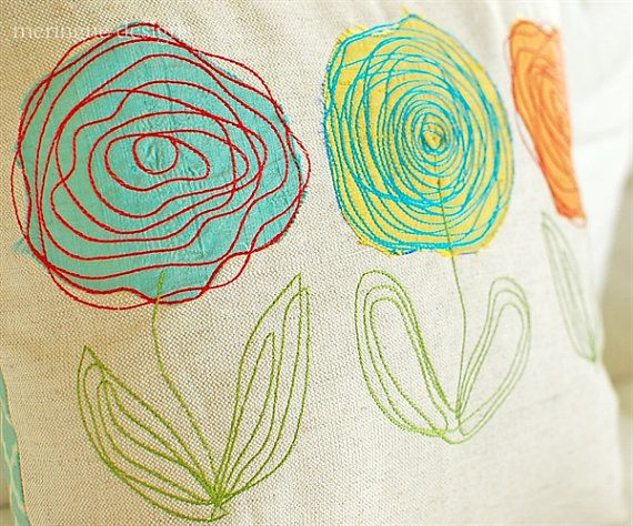 Scribbled Roses Machine Embroidery Designs by meringuedesigns,