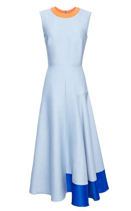 Blue Orla Dress by Roksanda Ilincic for Preorder on Moda Operandi
